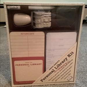 Personal library labeling kit